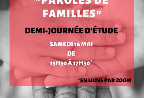 Paris Media Jornada de trabajo – Palabras de familias – 16 Mayo 2020 de 13,30  a 17,30 h