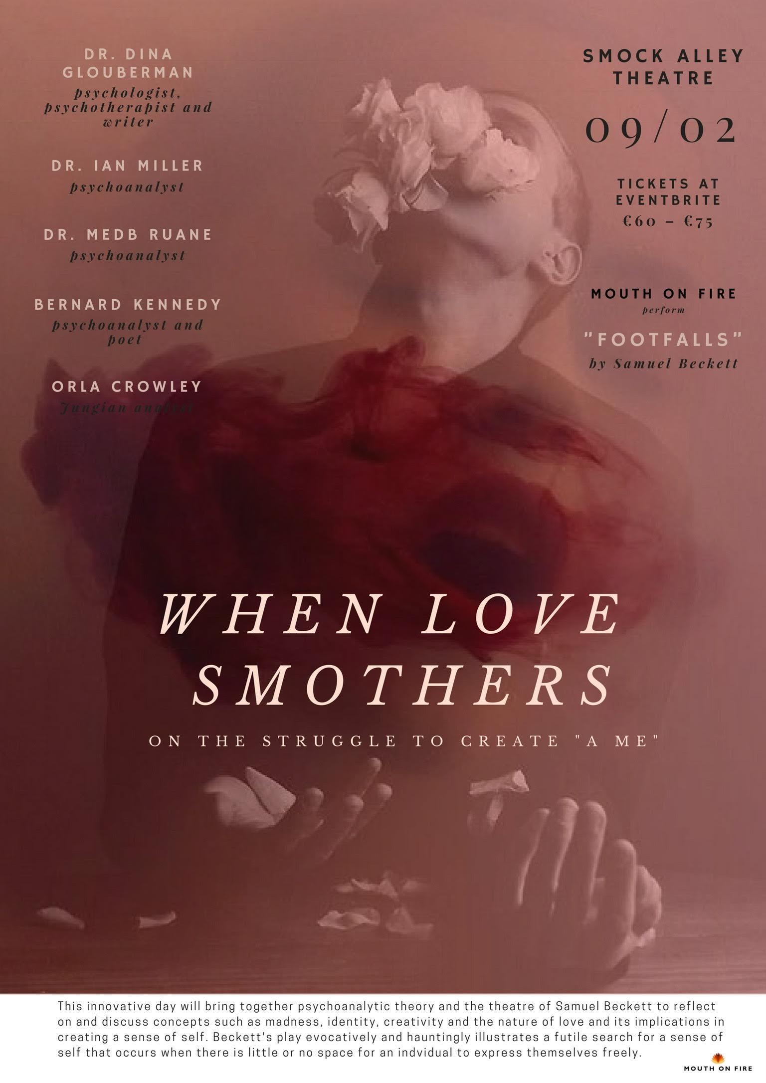 """Jornada en Dublin – « Cuando el amor ahoga: sobre la lucha por crear 'un yo'  » (When Love Smothers : on the struggle to create """"A Me"""") – 9 febrero 2018"""